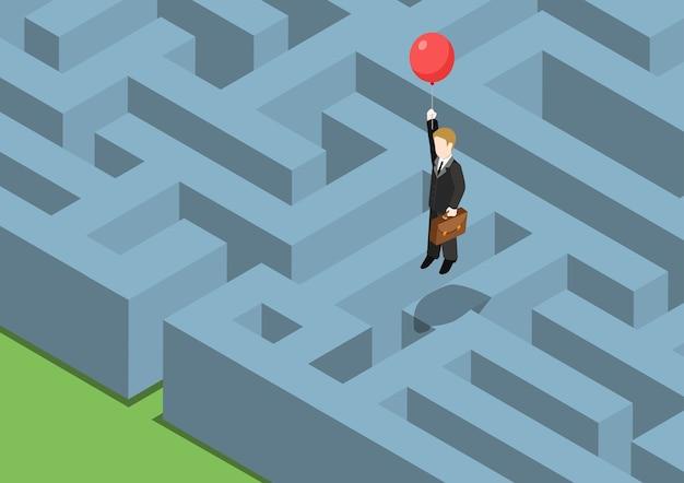 Flaches 3d-web des risikomanagementkonzepts
