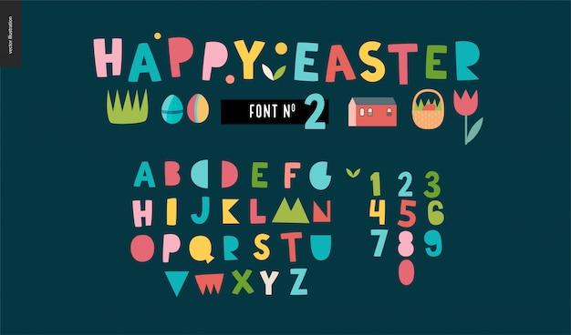 Flaches alphabet für kinder