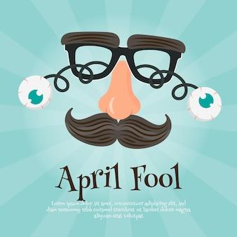 Flaches aprilscherz-tageskonzept