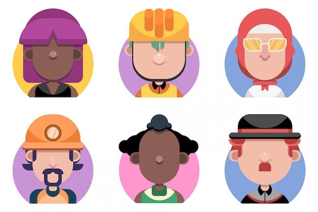Flaches avatar-set