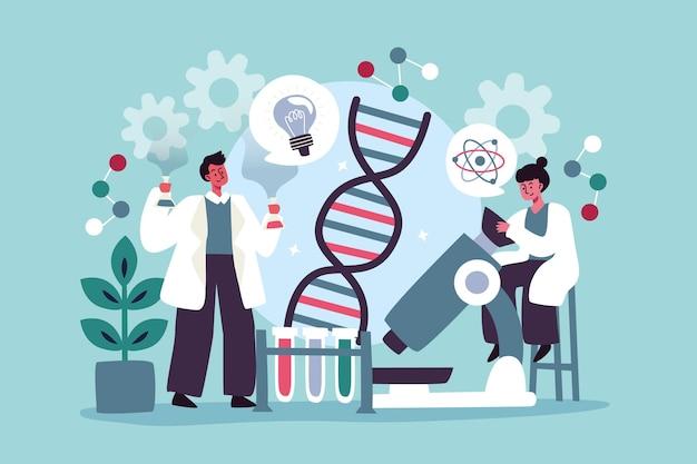 Flaches biotechnologiekonzept dargestellt