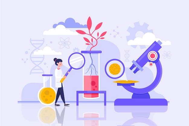 Flaches biotechnologiekonzept