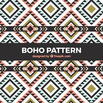 Flaches boho-muster mit geometrischem design