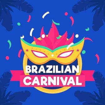 Flaches brasilianisches karnevalskonzept