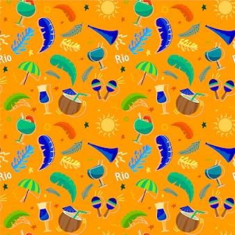 Flaches brasilianisches karnevalsmuster
