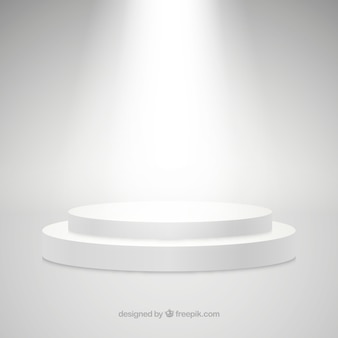 Flaches bühnenpodium mit eleganter beleuchtung