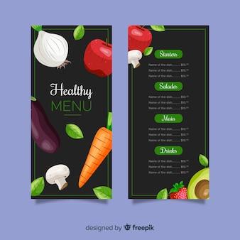 Flaches buntes gesundes nahrungsmittelmenü
