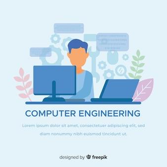 Flaches computertechnikkonzept