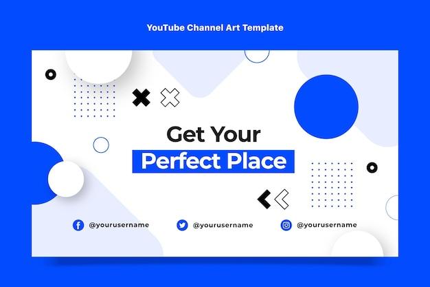 Flaches design abstrakte geometrische immobilien-youtube-kanal-kunst