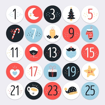 Flaches design adventskalender