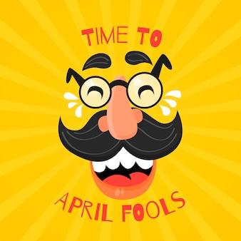 Flaches design april narren tag konzept