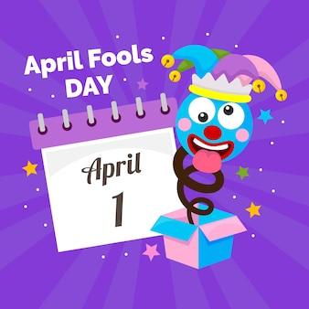 Flaches design april narren tag
