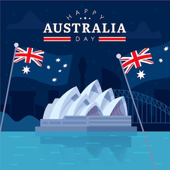 Flaches design australien-tageskonzept