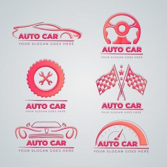 Flaches design auto logo sammlung