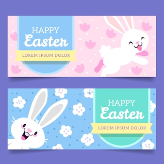 Flaches design banner pack ostertag