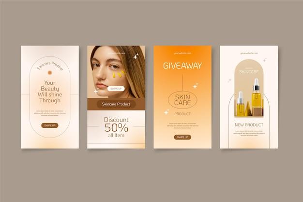 Flaches design beauty instagram story set design