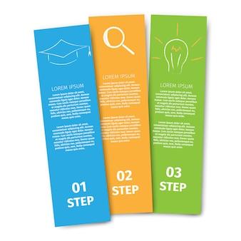 Flaches design bildung und lernen banner
