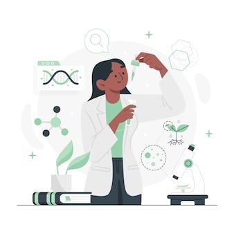 Flaches design biotechnologie-konzept