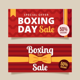 Flaches design boxing day sale banner vorlage