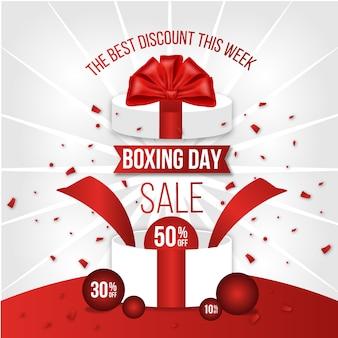Flaches design-boxing-day-sale-konzept