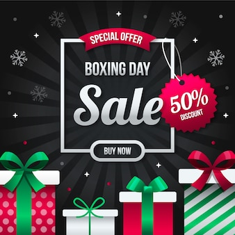Flaches design-boxing-day-sale-konzept