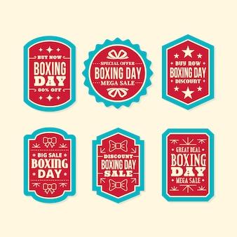 Flaches design boxing day sale label sammlung