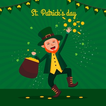 Flaches design buntes design von st. patricks day