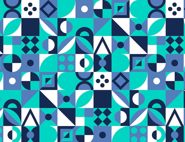 Flaches design buntes mosaikmuster