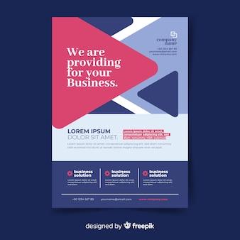 Flaches design business flyer vorlage
