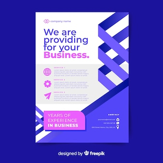 Flaches design business flyer vorlage
