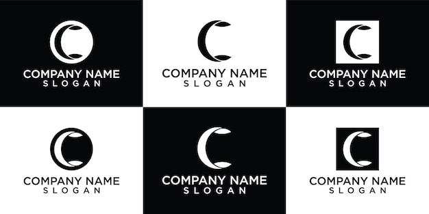 Flaches design c logo design vorlage