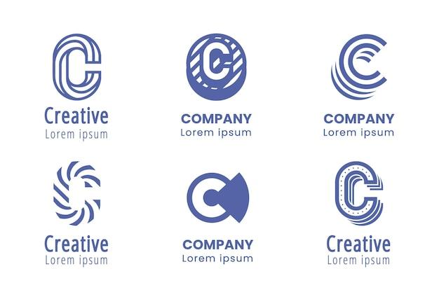 Flaches design c logo sammlung