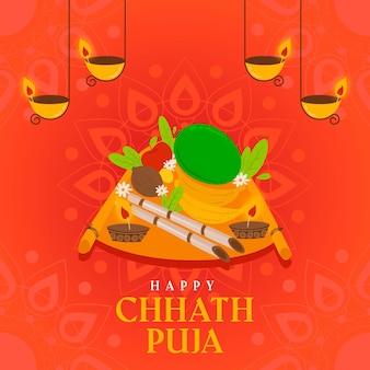 Flaches design chhath puja
