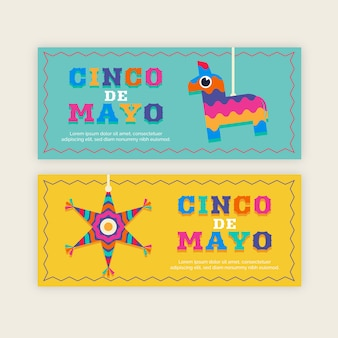 Flaches design cinco de mayo banner