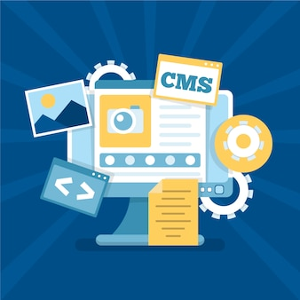 Flaches design cms webdesign Kostenlosen Vektoren