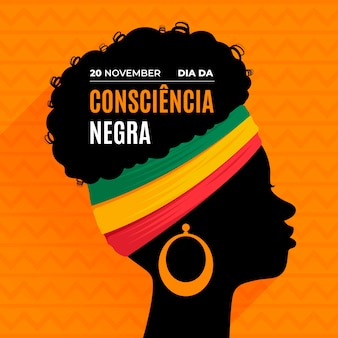 Flaches design consciencia negra tag
