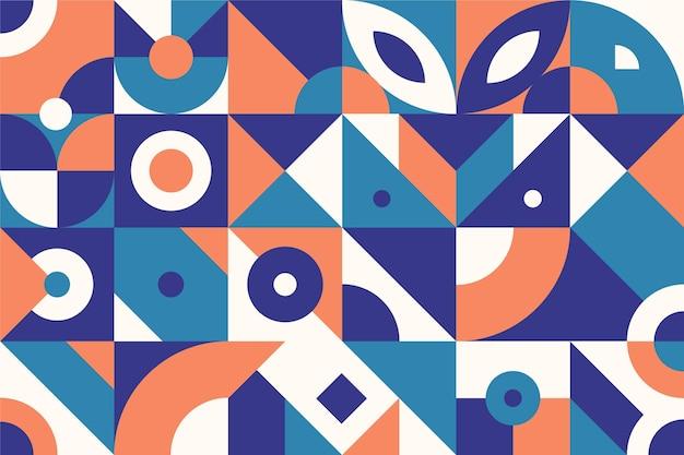 Flaches design der abstrakten geometrischen formen