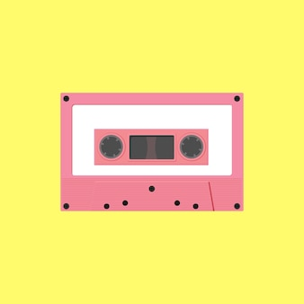 Flaches design der bandkassette.