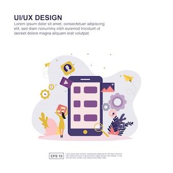 Flaches design der benutzerschnittstellenkonzeptvektor-illustration für darstellung.