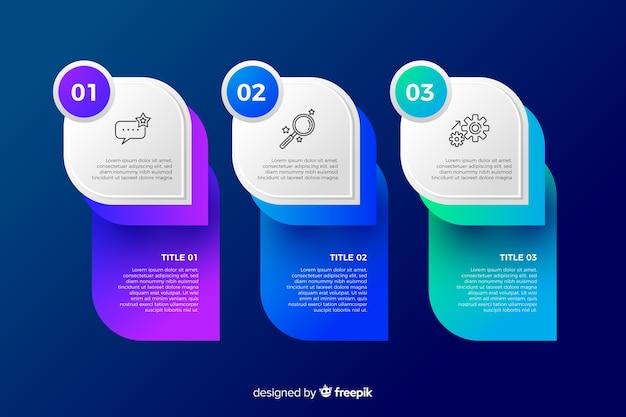 Flaches design der bunten infographic schablone