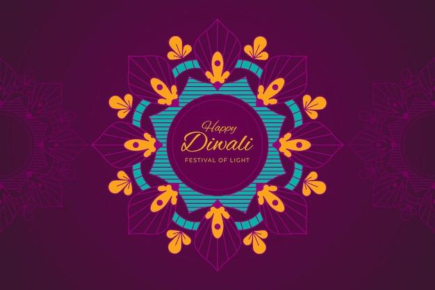 Flaches design der diwali-feier