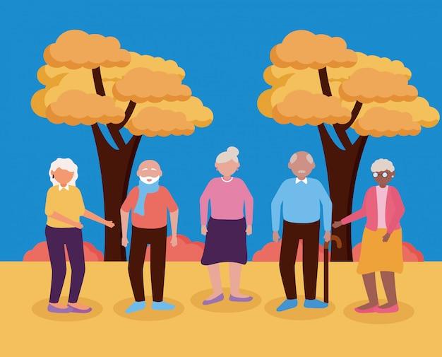 Flaches design der glücklichen großelterntages