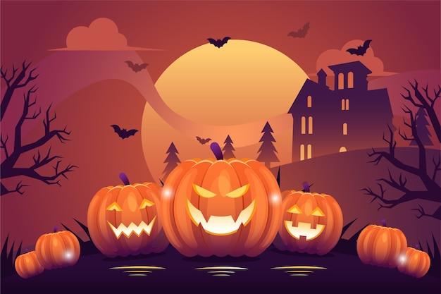 Flaches design der halloween-illustration