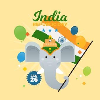 Flaches design der indischen republik-tages