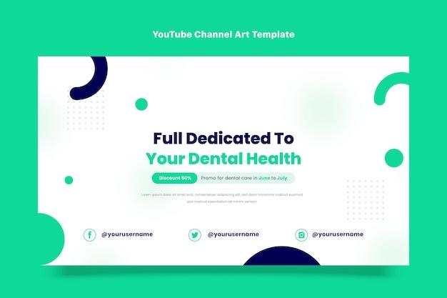 Flaches design der medizinischen youtube-kanalkunst