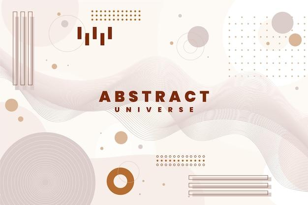 Flaches design des abstrakten hintergrunds