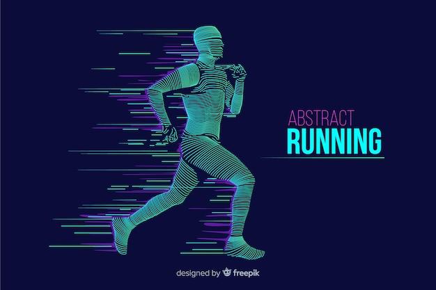 Flaches design des abstrakten läuferschattenbildes