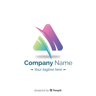 Flaches design des abstrakten logos der steigung