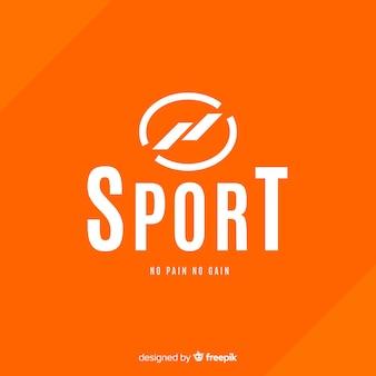 Flaches design des abstrakten schattenbildsport-logos