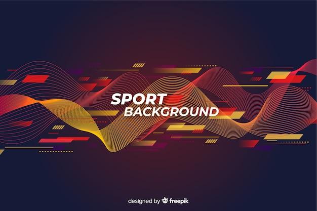 Flaches design des abstrakten sporthintergrundes